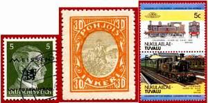 Марки местные. Германия (Мейзен), Россия (Ингермландия), Тувалу (Никулаелае)