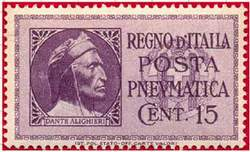 Марка пневматической почты. Италия.