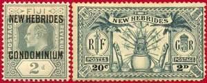 Почтовые марки Новых Гебрид