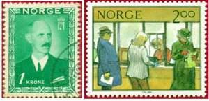 Почтовые марки Норвегии