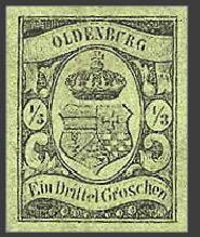 Почтовая марка Ольденбурга