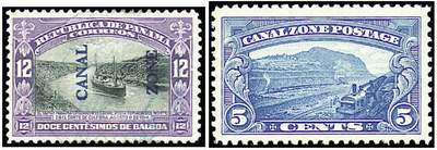 Почтовые марки Зоны Панамского канала