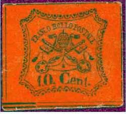 Почтовая марка Папской области