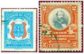 Почтовые марки Перу