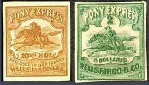 Почтовые марки «Пони-экспресс»