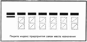 Трафарет для почтового индекса