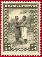 Почтовая марка Руанды-Урунди