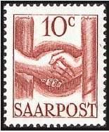 Почтовая марка Саара