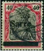 Почтовая марка Саарской области