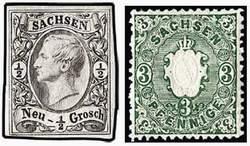 Почтовые марки Саксонии