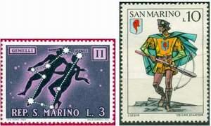 Почтовые марки Сан-Марино