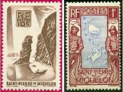 Почтовые марки Сен-Пьера и Микелона