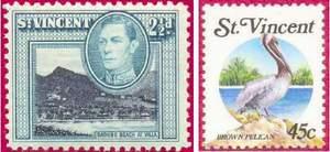 Почтовые марки Сент-Винсента и Гренадин