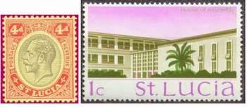 Почтовые марки Сент-Люсии