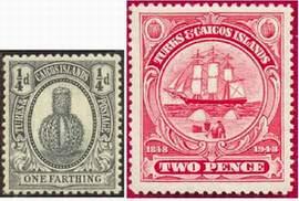 Почтовые марки островов Теркса и Кайкоса
