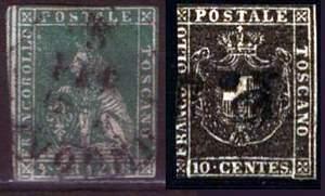 Почтовые марки Тосканы