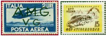Почтовы марки Триеста (Зона «А», зона «Б»)