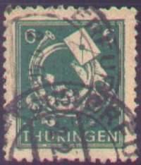 Почтовая марка Тюрингии