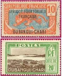 Почтовая марка Убанги-Шари