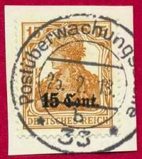 Вырезка — марка Германской оккупации Франции и Бельгии в годы I Мировой войны