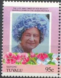Почтовая марка Ваитупу. Тувалу.