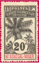 Почтовая марка Верхний Сенегал-Нигер.