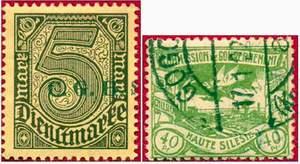 Почтовые марки Верхней Силезии.