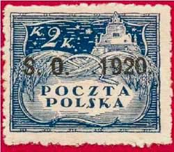 Почтовая марка Восточной Силезии