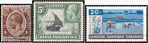 Почтовые марки Кении-Уганды-Танганьики-Занзибара