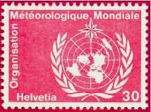 Почтовая марка ВМО