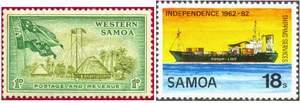 Почтовые марки Западного Самоа