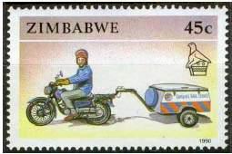 Почтовая марка Зимбабве
