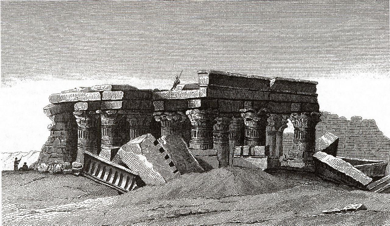 Развалины египетского храма