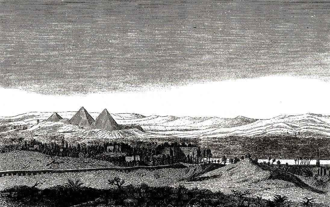 Вид на пирамиды из Каира.