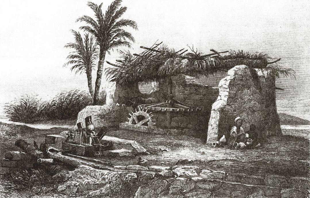 Вода Нила подается в оросительный канал