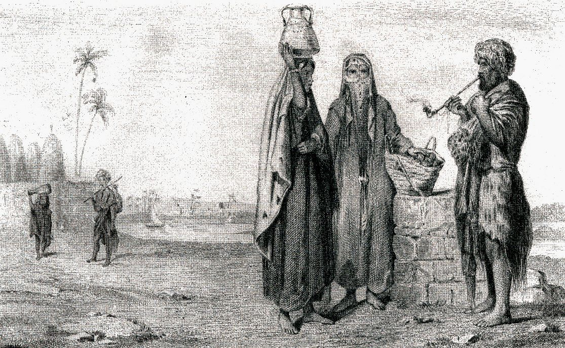 Женщины из Верхнего Египта и феллахи (крестьяне- землевладельцы)