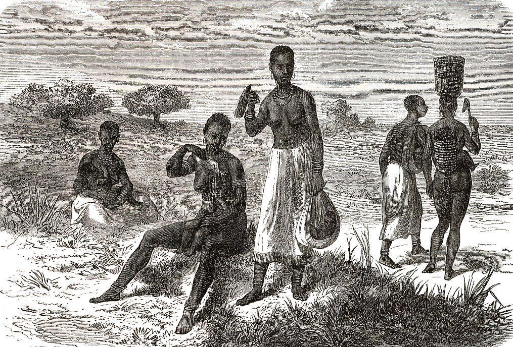 Женщины с детьми одного из племен хассание