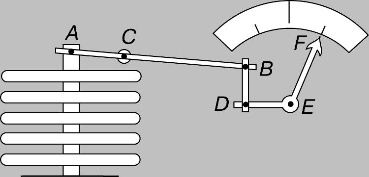 Барометр анероид схема