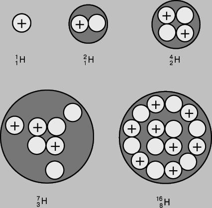 Существуют разновидности атомов одного элемента, в которых одинаковое число протонов, но разное число нейтронов...