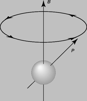 Атом с магнитным моментом p