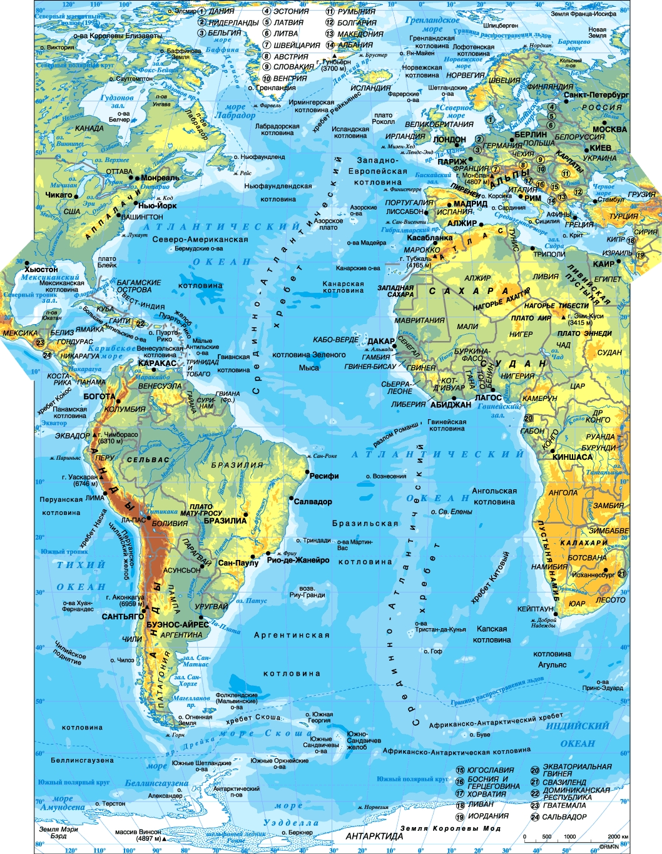 Как атлантический океан связан с ледовитым океаном