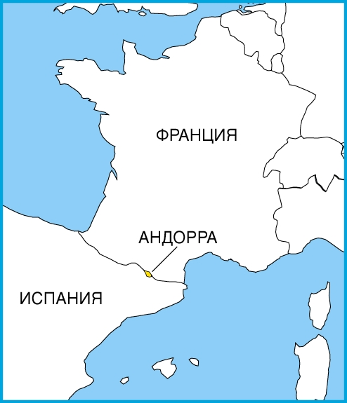Положение на карте Европы