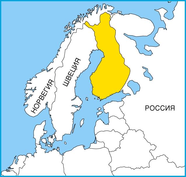 На карте Скандинавии
