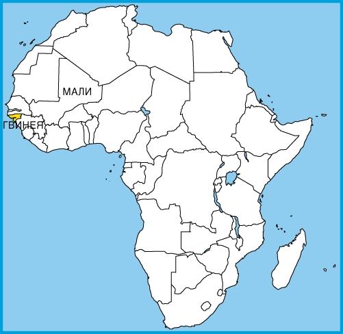 На карте Африки