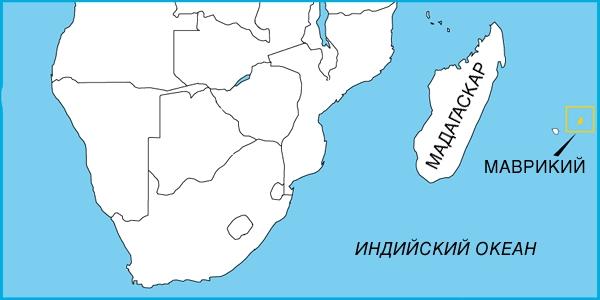 На карте юга Африки