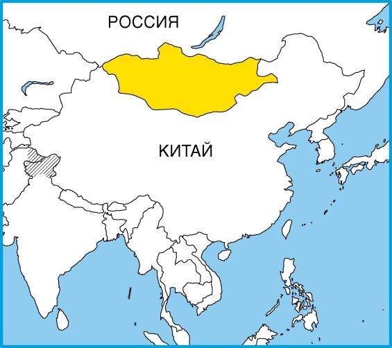 На карте индокитая