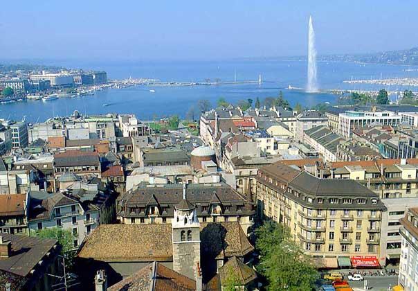 ЖЕНЕВА, главный город одноименного кантона, расположена на берегу Женевского озера.