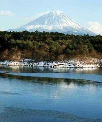 Фудзияма самая высокая гора японии