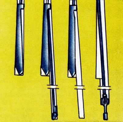 Рис. 2. Схема бурения клиновым устройством.