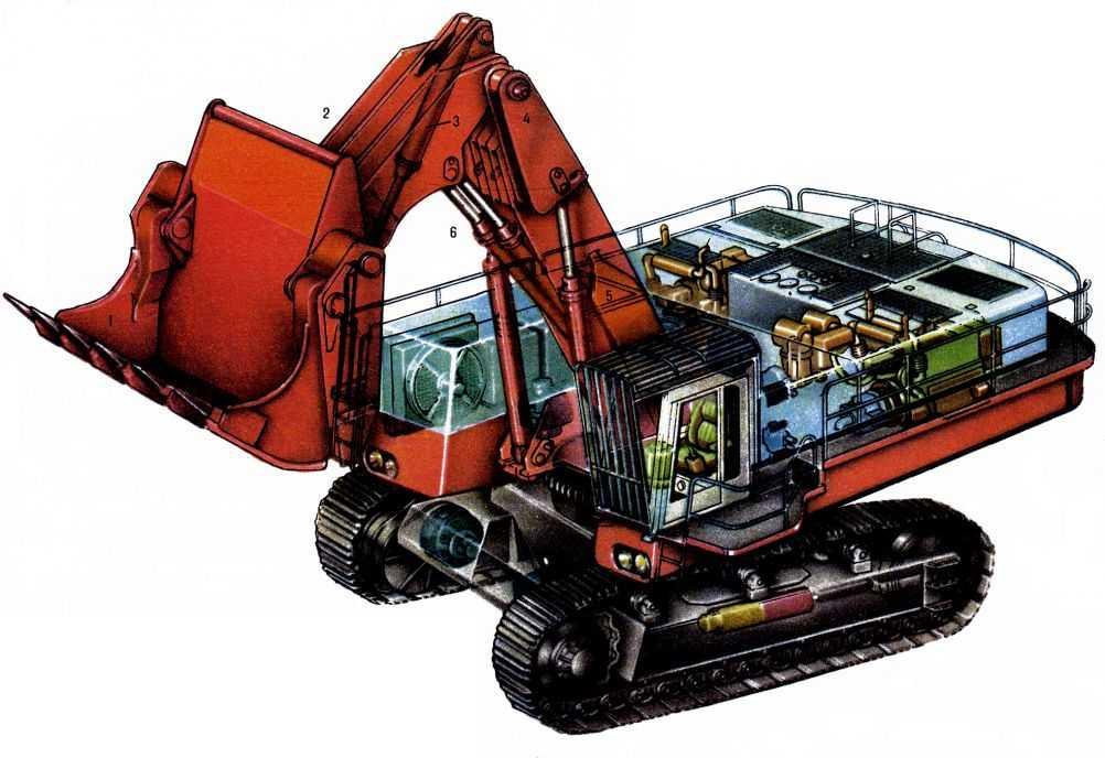 Для передачи вращения (привод поворота платформы... самоходная выемочно-погрузочная машина, у к-рой все виды рабочих...